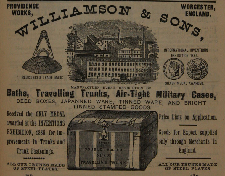 Williamson & Sons Advertisement