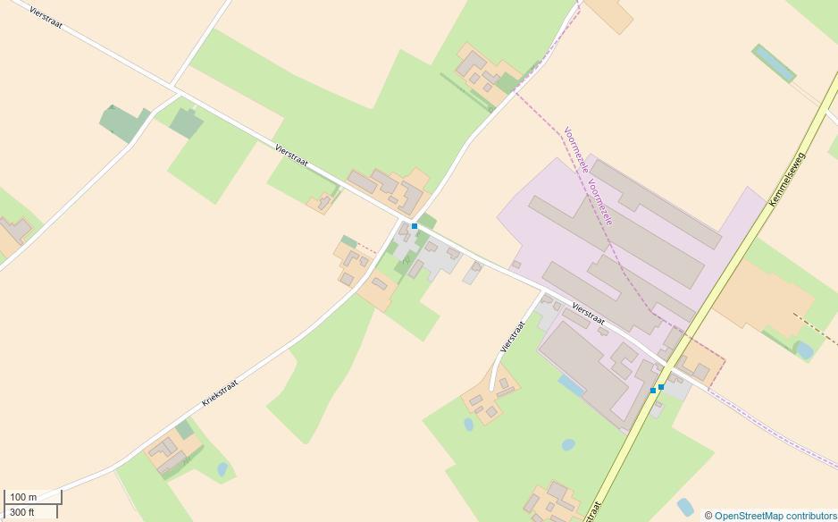The battlefield West of Vierstraat