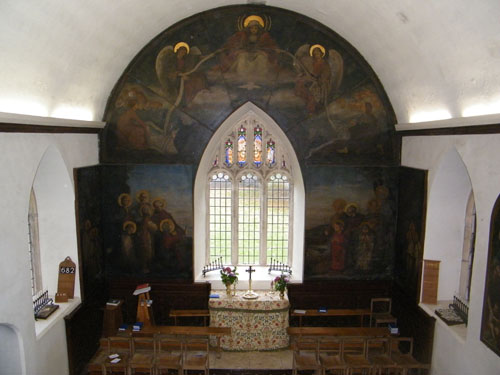 Hanford School Chapel (altar rails long gone - space now used by the school choir!) Photo © (Attribution & Notification) Peter Walker